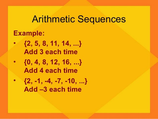 Arithmetic Sequences Example: ...