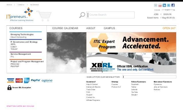 ITpreneurs 2011 Store redesign Slide 2