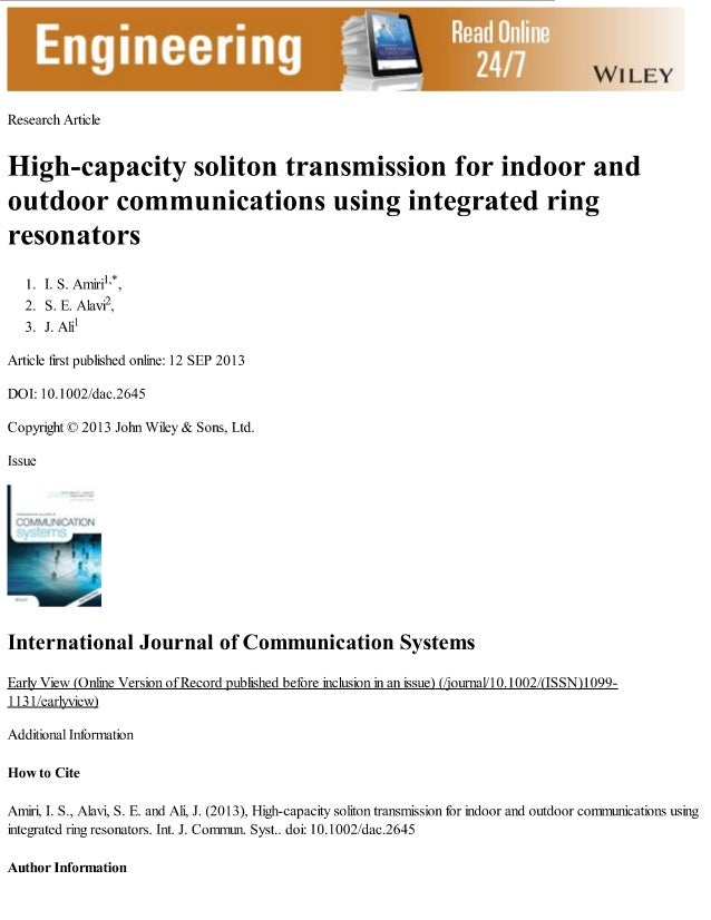 #7  Engineering Ex  i(e. <:an: Iv Amcl:          High-capacity soliton transmission for indoor and outdoor communications ...