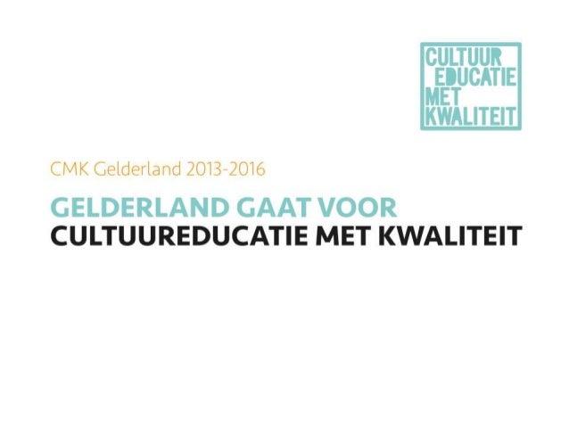 Projectaanvraag:  NME binnen de doorgaande leerlijn  cultuur