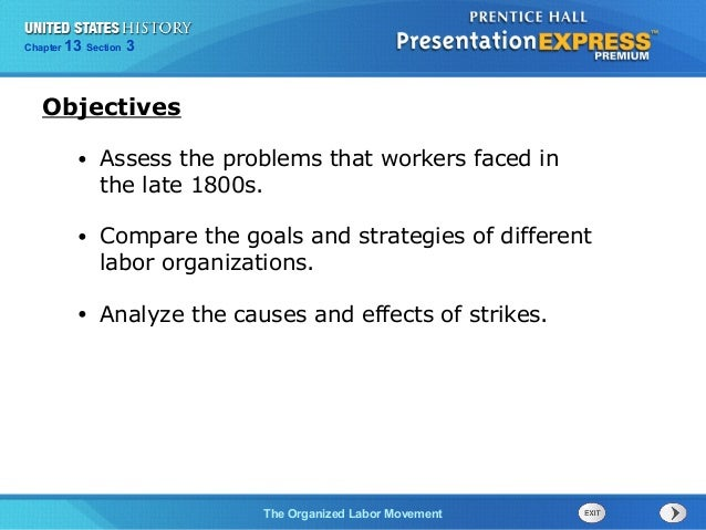 us history ch 4 section 3 notes rh slideshare net Labor Movement Posters Labor Movement Posters