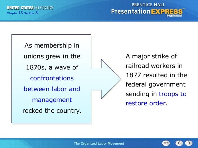 us history ch 4 section 3 notes rh slideshare net American Labor Movement Labor Movement in America