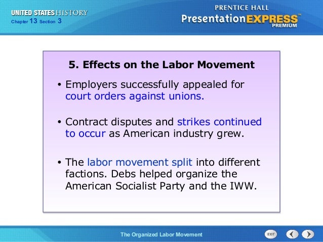 us history ch 4 section 3 notes rh slideshare net Labor Movement Posters Labor Movement Cartoons