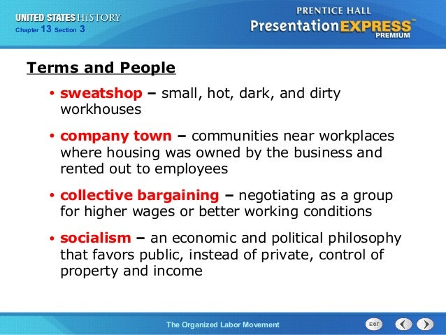 us history ch 4 section 3 notes rh slideshare net American Labor Movement Labor Movement Cartoons