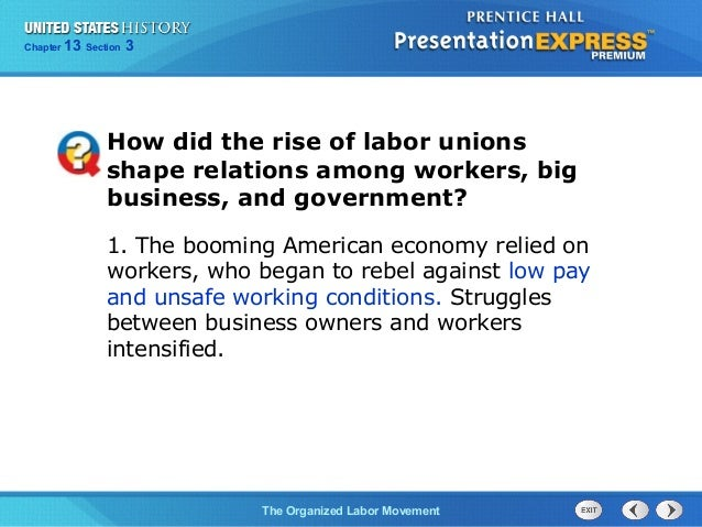 us history ch 4 section 3 notes rh slideshare net Labor Movement Posters Labor Movement Timeline