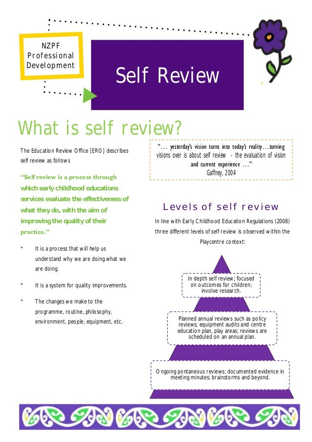 The Education Review Office [ERO] Describes Self Review As Follows U201cSelf  Review Is ...