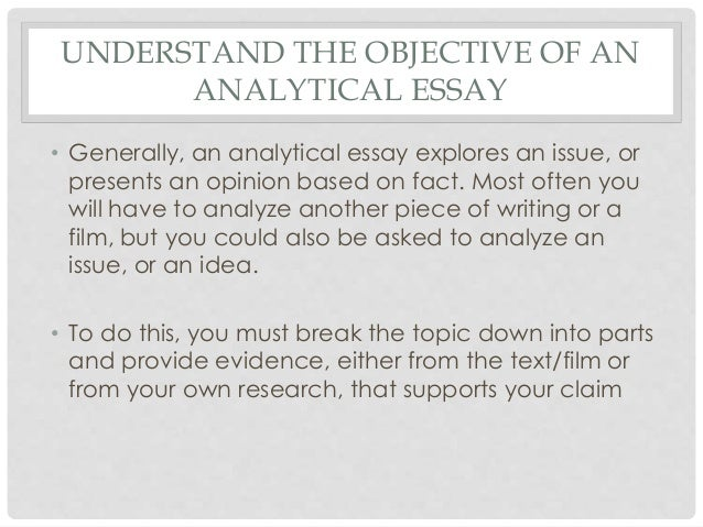 introduction to an analytical essay Writing your essay analysis don't just leave once you know what your essay is about, then write the introduction and conclusion.