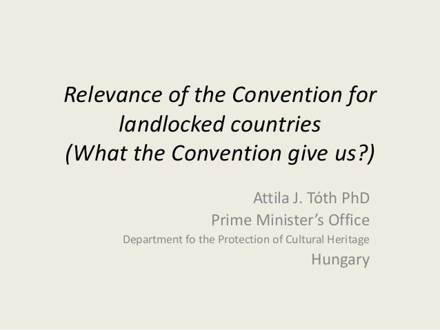 Relevance of the Convention for landlocked countries (What