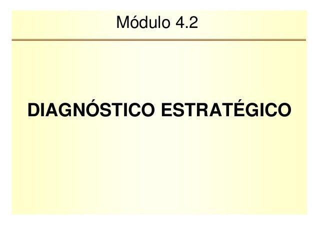Módulo 4.2  DIAGNÓSTICO ESTRATÉGICO