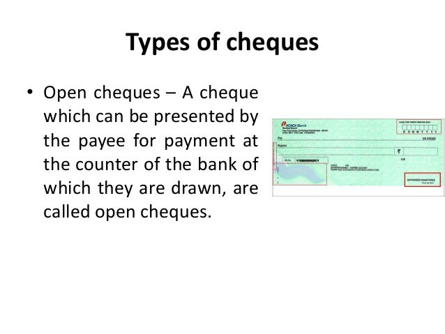 open cheque meaning