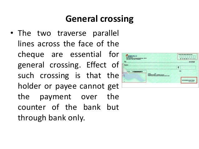 effects of crossing a cheque