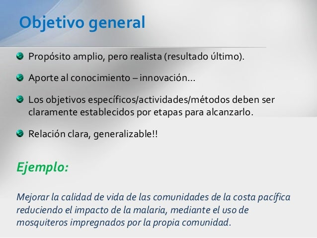 4 estructura b sica de propuesta de investigaci n redacci for Objetivo general de un vivero