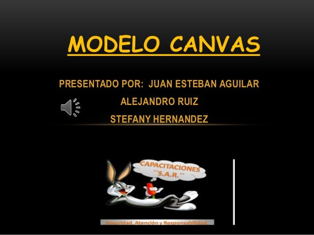 MODELO CANVAS  PRESENTADO POR: JUAN ESTEBAN AGUILAR  ALEJANDRO RUIZ  STEFANY HERNANDEZ  GRADO: 11-1