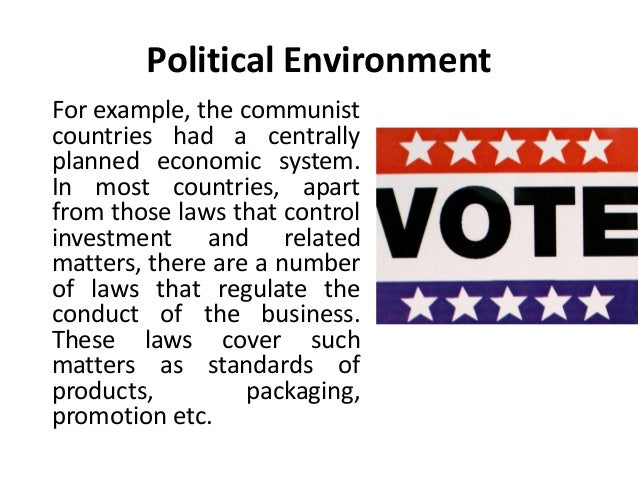 Political Environment - International Business - Manu Melwin Joy