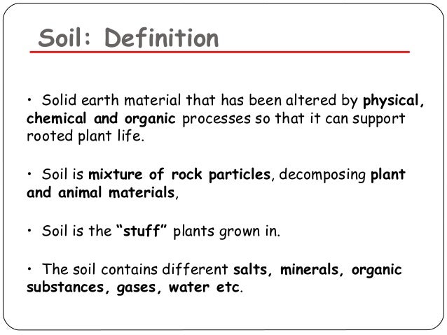 soil pollution On soil definition