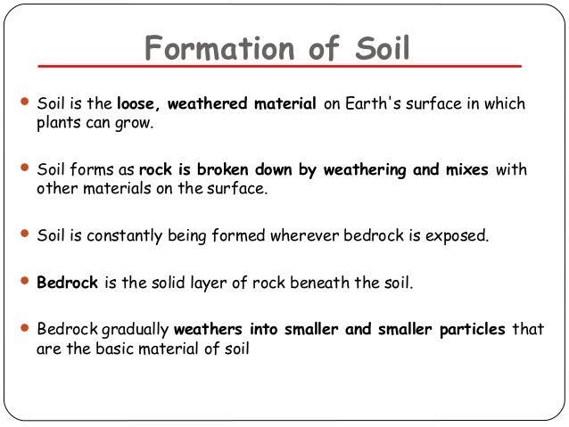 Soil pollution for Explain the formation of soil