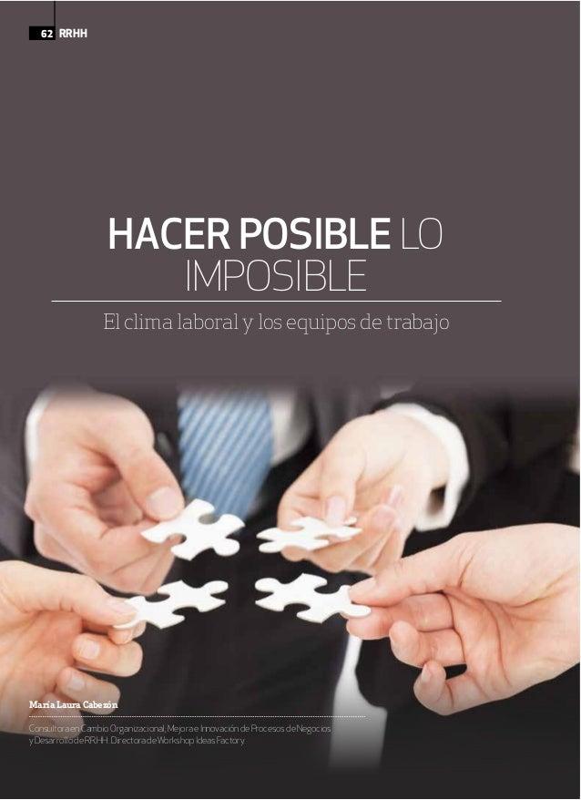 MaríaLauraCabezón ConsultoraenCambioOrganizacional;MejoraeInnovacióndeProcesosdeNegocios yDesarrollodeRR.HH.DirectoradeWor...