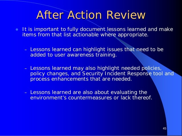 military after action review template - implementing vulnerability management