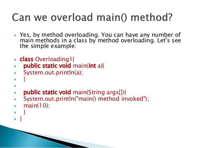 Java Main Method