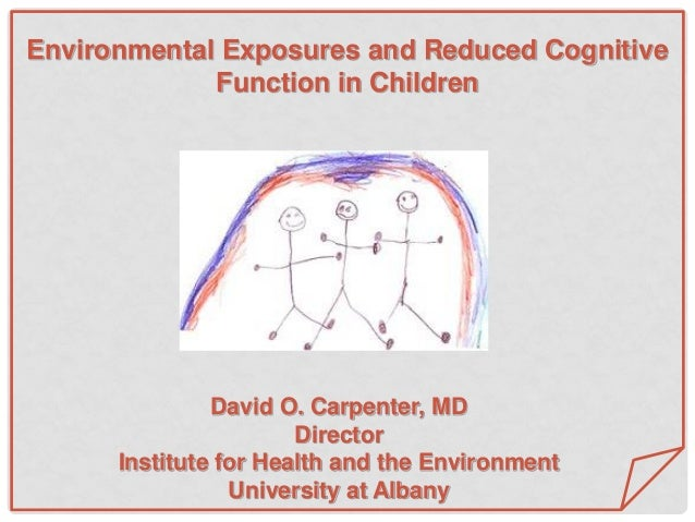 David O. Carpenter, MD Director Institute for Health and the Environment University at Albany Environmental Exposures and ...