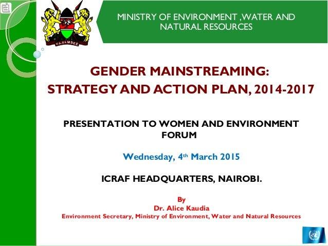 Ministry Of Environment Water And Natural Resources Kenya