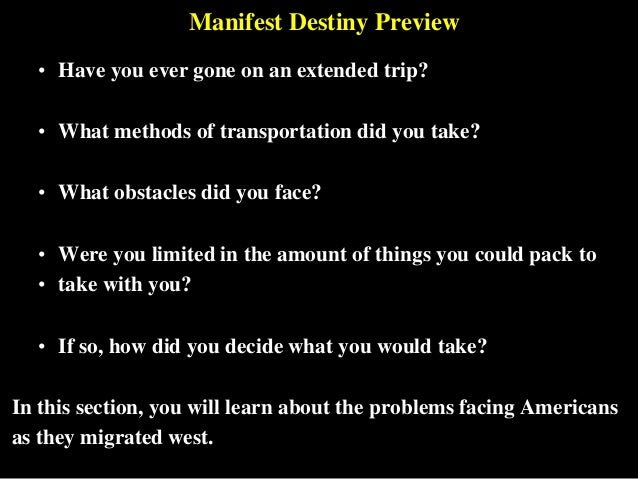 manifest destiny and how did it fulfill the united states Us president james knox polk, who served one term in office, from 1845 to 1849 , is the leader most associated with the ideology of manifest destiny polk was.