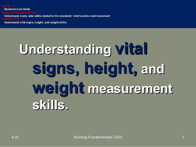 401 ppt height weight measurements understandingunderstanding vitalvital signs heightsigns height andand weightweight measurementmeasurement