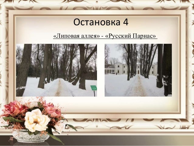 Остановка 4 «Липовая аллея» - «Русский Парнас»