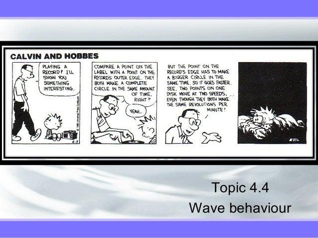 Topic 4.4 Wave behaviour