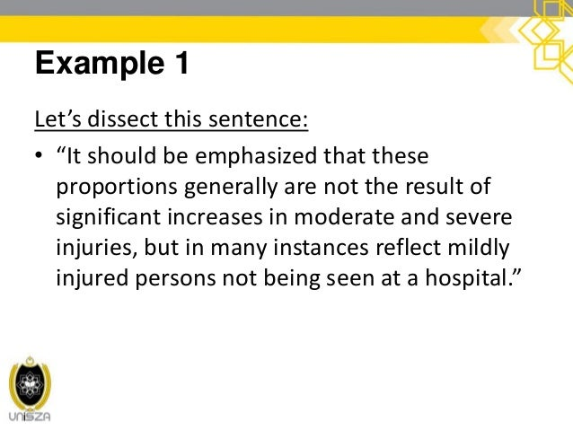 cont. Example 1 • It should be emphasized that these proportions generally are not the result of significant increases in ...
