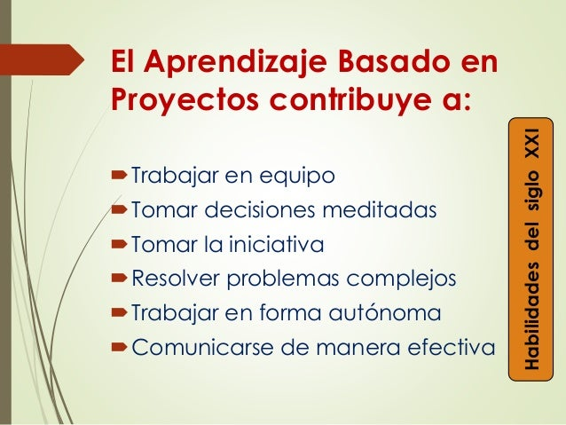 Resultado de imagen de aprendizaje basado en proyectos