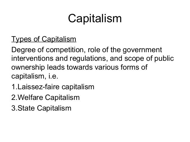 capitalism individualism and government Hayek argued that government planning, by crushing individualism,  with the  namelessness and placelessness of modern capitalism: the.
