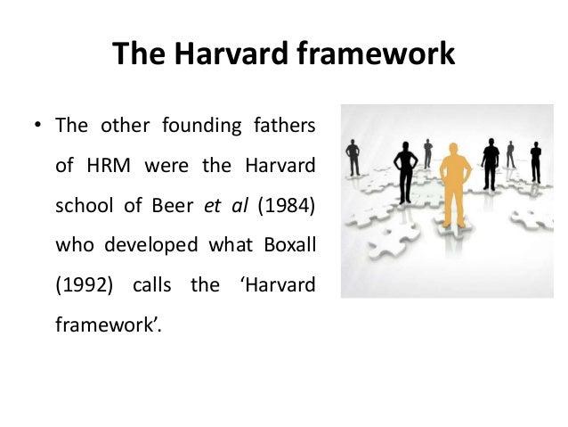 harvard framework for human resource management