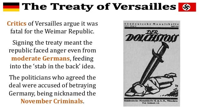 What were the long term negative effects of the Treaty of Versailles?