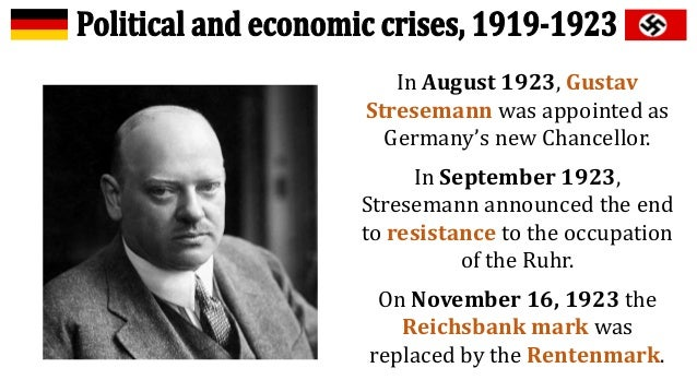 how successful was stresemann from 1923 1929 The weimar republic under stresemann 1924-1929 achievements  chancellor for only a few months  leading member of every government from 1923-1929.