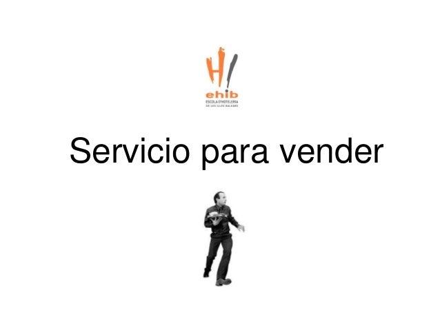 Servicio para vender
