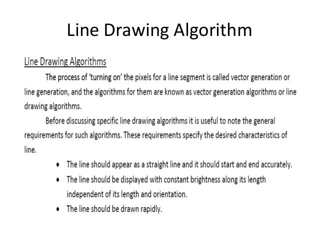 Dda Line Drawing Algorithm Output : Output primitives in computer graphics
