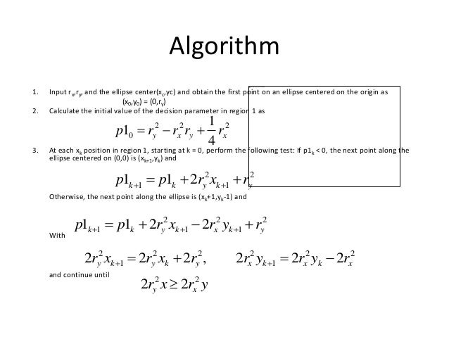 Line Drawing Algorithm In Computer Graphics Lecture Notes : Output primitives in computer graphics