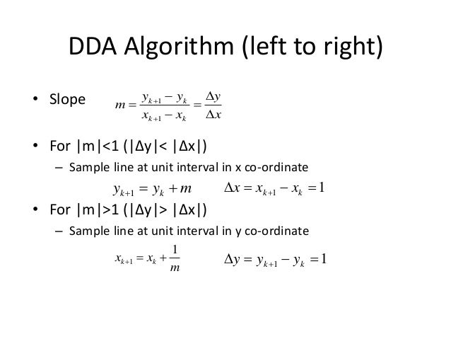 Line Drawing Algorithm In Computer Graphics Dda : Output primitives in computer graphics