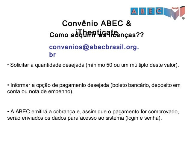 Convênio ABEC & iThenticate