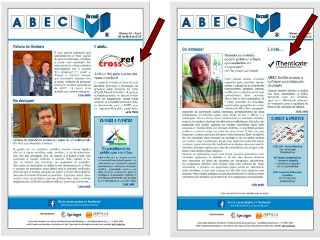 www.abecbrasil.org.br Convênio ABEC & iThenticate