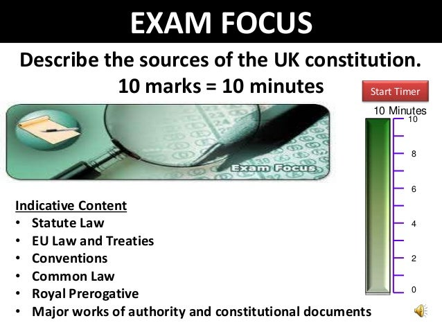 sources of uk constitution essay Notes which combine the bpp study notes, lectures and essay plans and points to note from tutorials takes you through the steps to answer a constitution essay.