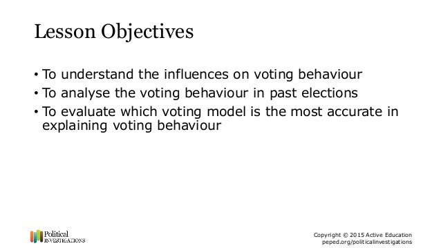 voting behaviour The politics of american generations: how age affects attitudes and voting behavior by drew desilver.