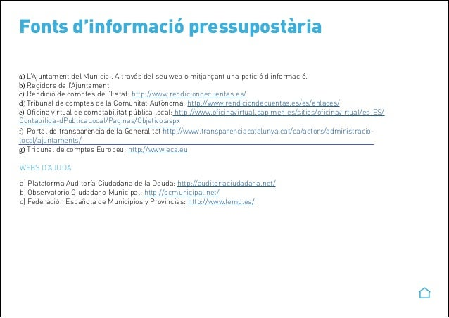 Entenent un pressupost municipal for Meh oficina virtual