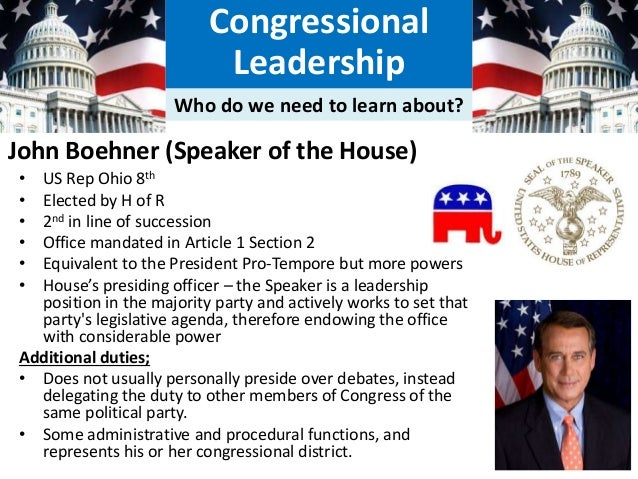 How much power do Congress and Congressional leadership actually have?