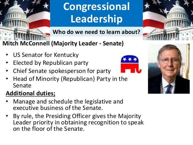 How much power do congress and congressional leadership - Define executive office of the president ...