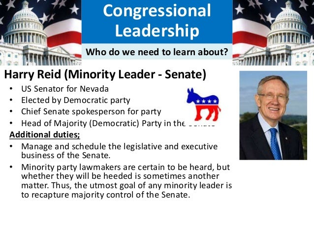 How Much Power Do Congress And Congressional Leadership