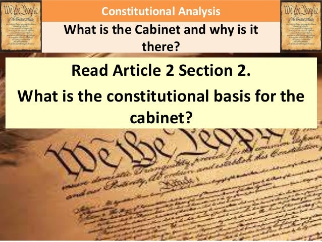 How important is the Cabinet?