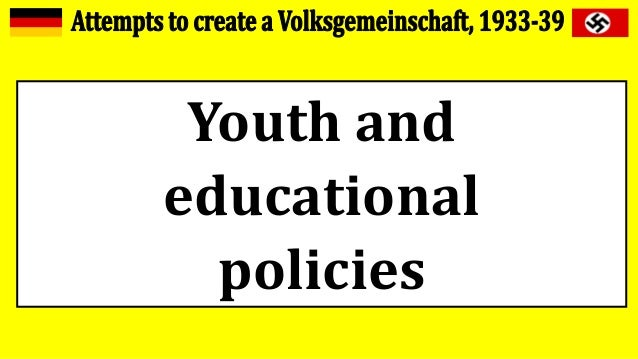 Youth and educational policies