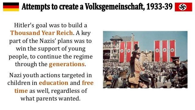 nazi impact on education and youth Childhood and education  a former member of the hitler youth,  hitler had a more significant impact than any other comparable historical figure, .